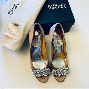 Badgley Mischka Jeweled Heels - 6.5